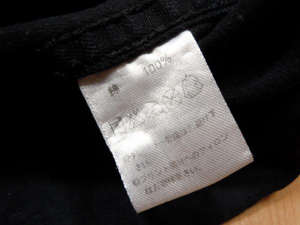 CAB キャブクロージング★チェーンステッチ 刺繍 半袖シャツ M★黒 ブラック ワークシャツ★古着 即決★a_画像3