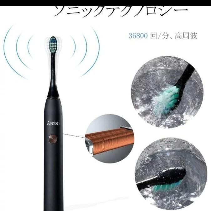 音波電動歯ブラシ USBワイヤレス充電 AU-P7BL