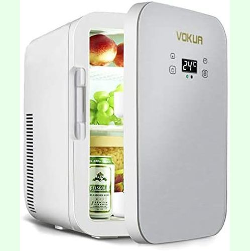 【新品&即決】VOKUA 冷蔵庫 小型 10L ミニ冷蔵庫-9℃~65°C でポータブル 家庭 車載両用 保温 保冷 温度調節 温_画像1