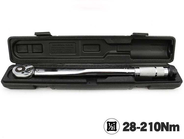 トルクレンチ プリセット式 差込角1/2(12.5mm) 28~210(N.m) 整備用 作業工具 タイヤ交換 締め 逆ネジも対応