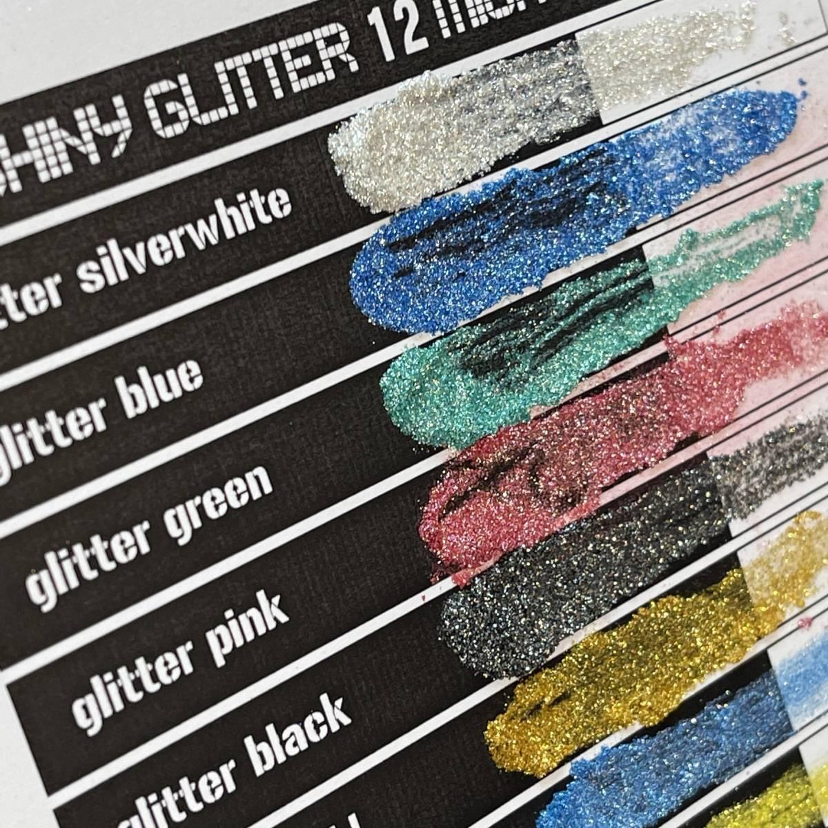 ★マイカパウダー EXSHINY GLITTER 12 MICAPOWDER グリッター系 12色 set 各約5g UVレジン エポキシ ネイル 雲母粉 顔料 数量限定★