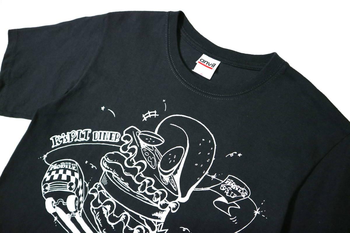 概ね美品!◆K's PIT AMERICAN DINER 綿100地 半袖Tシャツ◆やや細身Sサイズ_画像3
