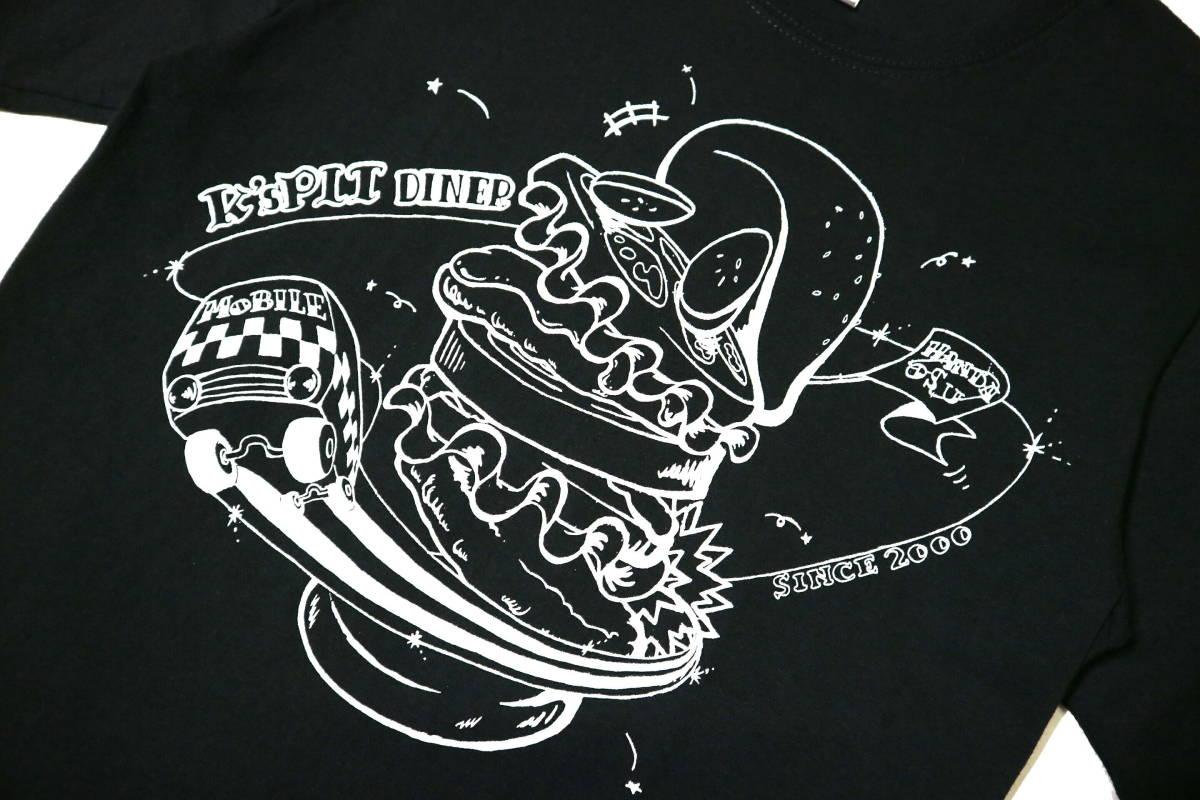 概ね美品!◆K's PIT AMERICAN DINER 綿100地 半袖Tシャツ◆やや細身Sサイズ_画像4