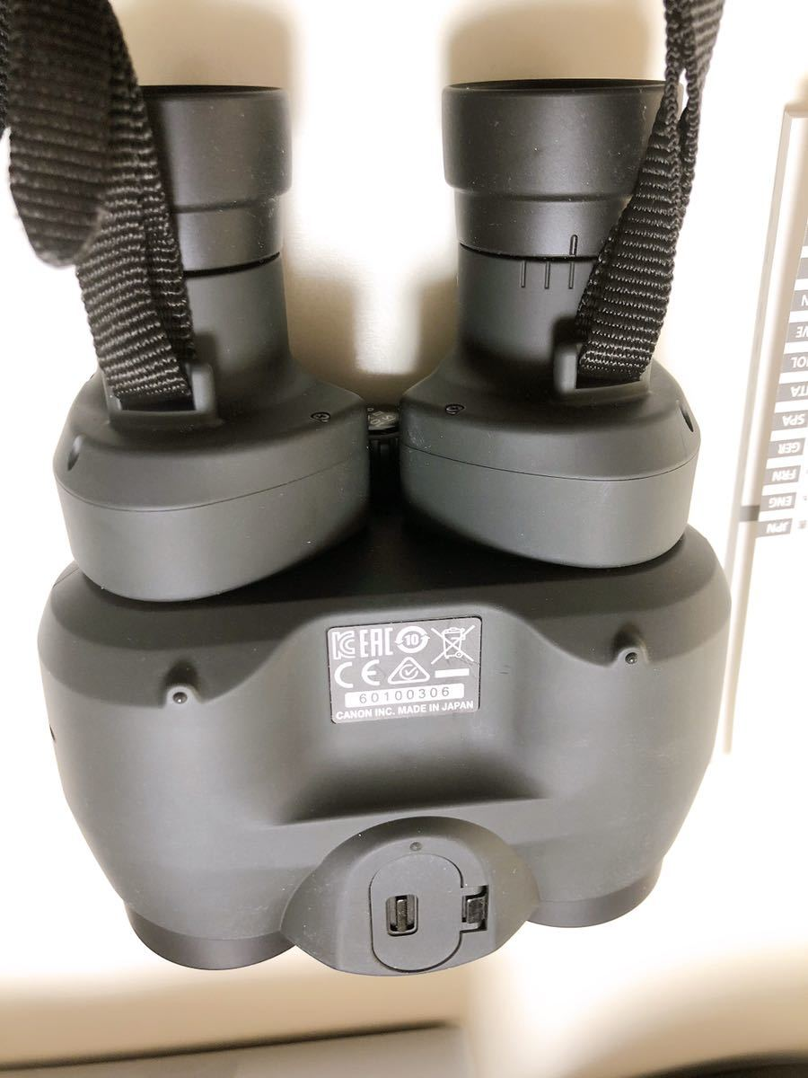 Canon キャノン BINOCULARS 10×30 IS Ⅱ 双眼鏡 ストラップ 取説 ケース 元箱付き_画像5