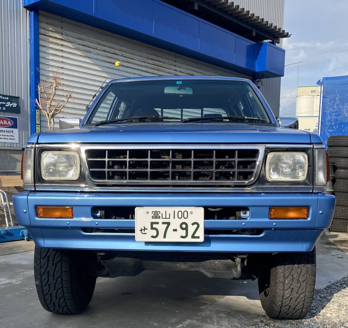 「希少!三菱ストラーダ Wキャブ MT 4WD 軽油 全塗装 224,000キロ 検3年11月」の画像2