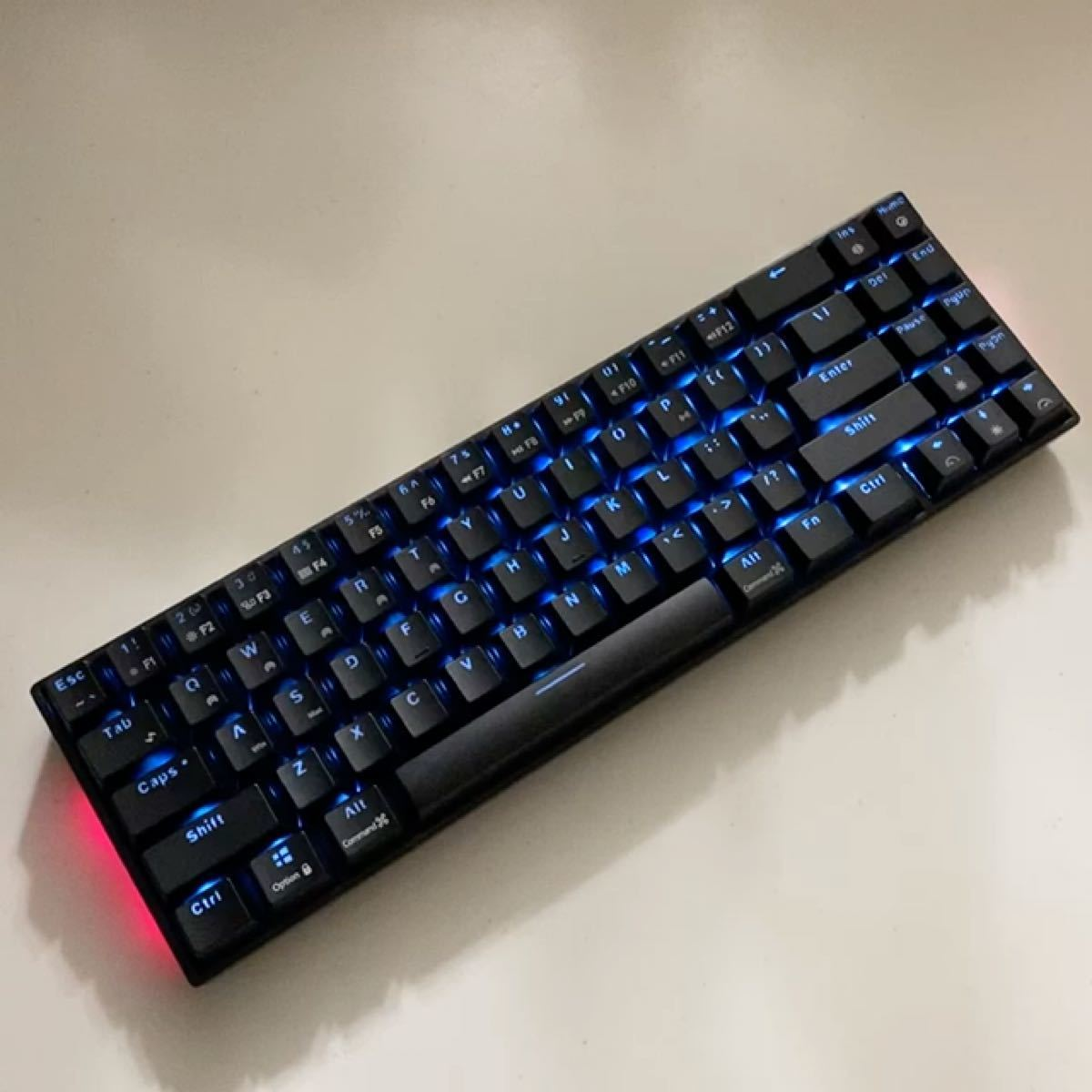 RK71 ゲーミングキーボード ワイヤレス LEDバックライト付きUSB/Bluetooth メカニカルキーボード 青軸