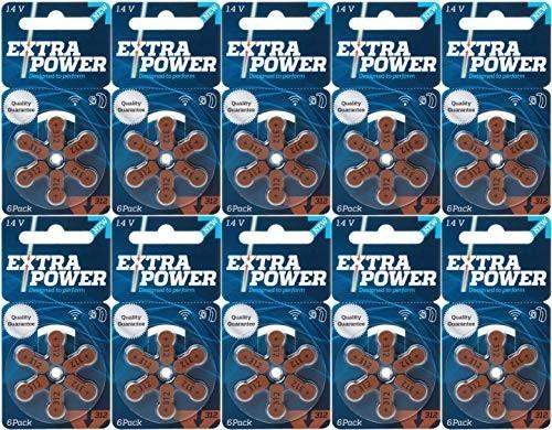 新品 即決シバントス 補聴器用空気電池 PR41(312) 10パック(60粒入り) EXTRA POWER 高品質HE4A_画像1