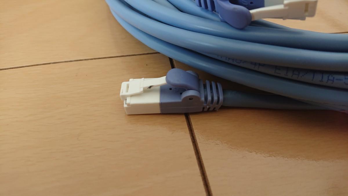 エレコム RoHS準拠 CAT5E対応 LANケーブル 10m ブルー