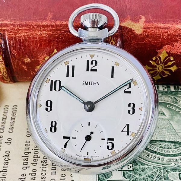 【高級懐中時計】美品 スミス 52mm メンズ レディース ビンテージ アナログ 手巻き 紳士の国 英国 OH済み 希少_画像2