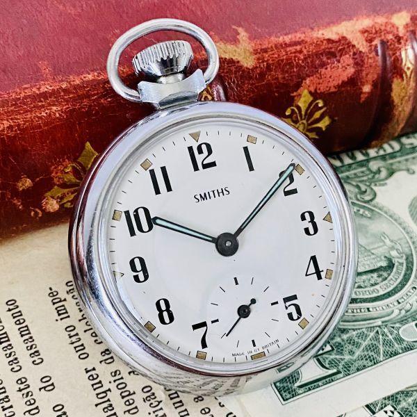 【高級懐中時計】美品 スミス 52mm メンズ レディース ビンテージ アナログ 手巻き 紳士の国 英国 OH済み 希少_画像3