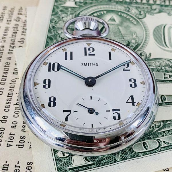 【高級懐中時計】美品 スミス 52mm メンズ レディース ビンテージ アナログ 手巻き 紳士の国 英国 OH済み 希少_画像5