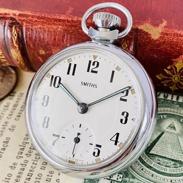 【高級懐中時計】美品 スミス 52mm メンズ レディース ビンテージ アナログ 手巻き 紳士の国 英国 OH済み 希少_画像1