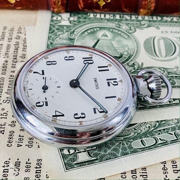 【高級懐中時計】美品 スミス 52mm メンズ レディース ビンテージ アナログ 手巻き 紳士の国 英国 OH済み 希少_画像4