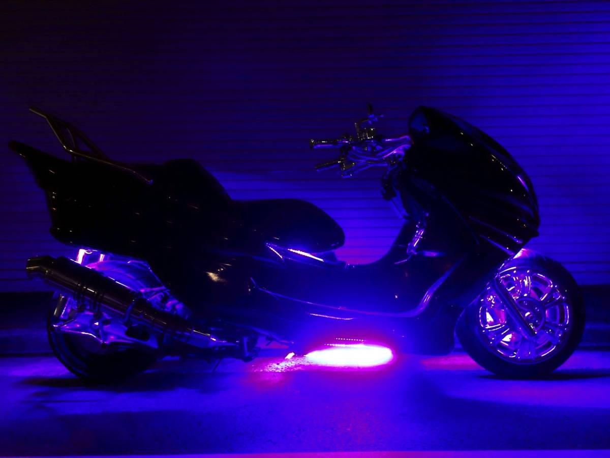 「ヤマハ マジェスティC オールブラック・ブルーLED・4スピーカー・カーオーディオ・ウーハーシステム」の画像3