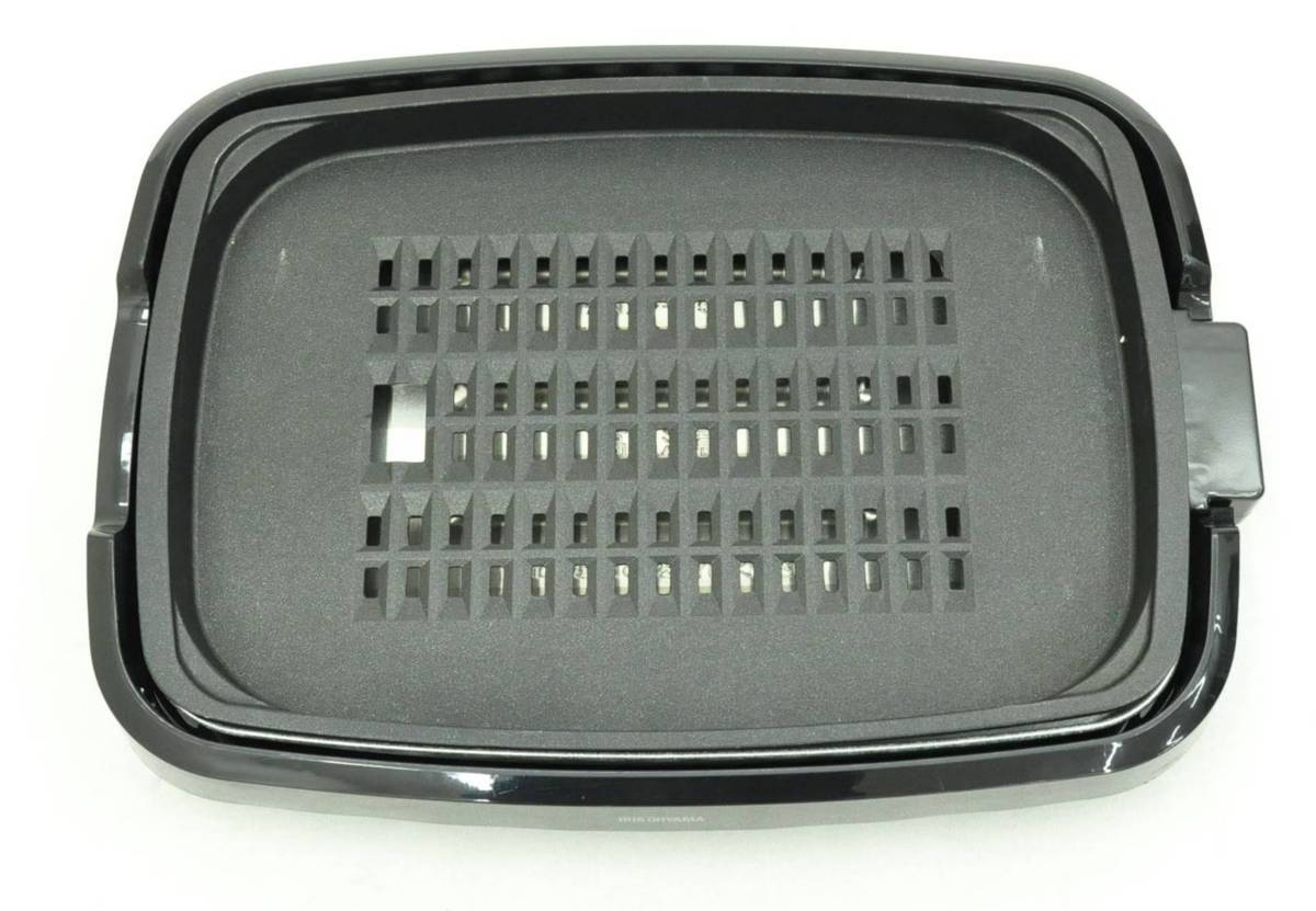 Eア2 KK041404 アイリスオーヤマ ホットプレート 3枚 網焼き 蓋付き ブラック APA-137-B b_画像6