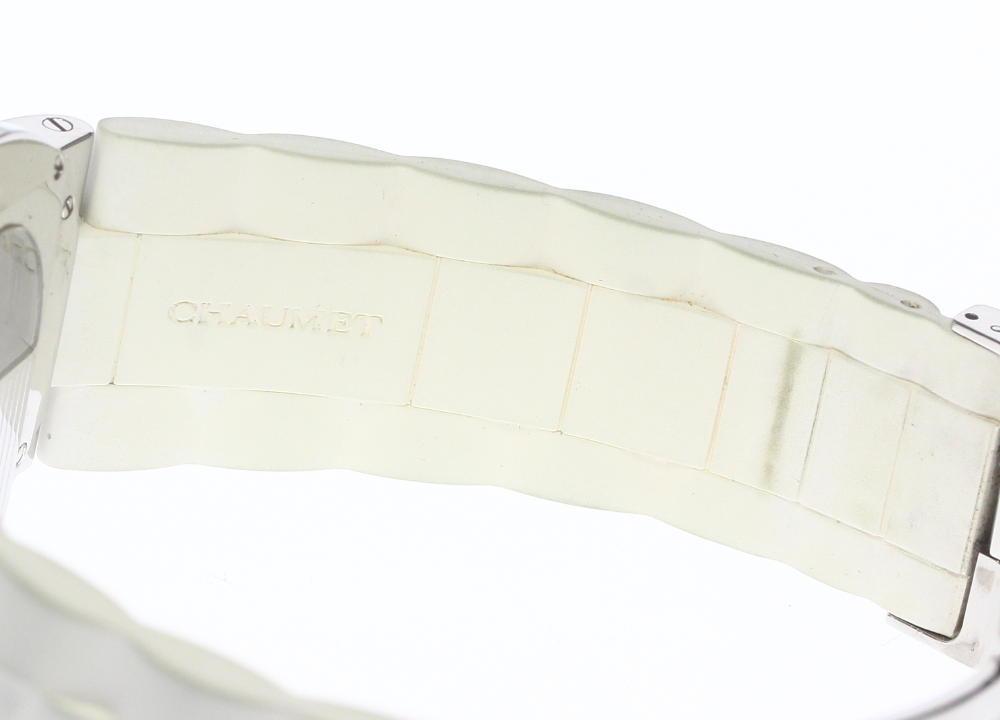【Chaumet】ショーメ クラスワン 自動巻き ホワイトラバー メンズ_画像4