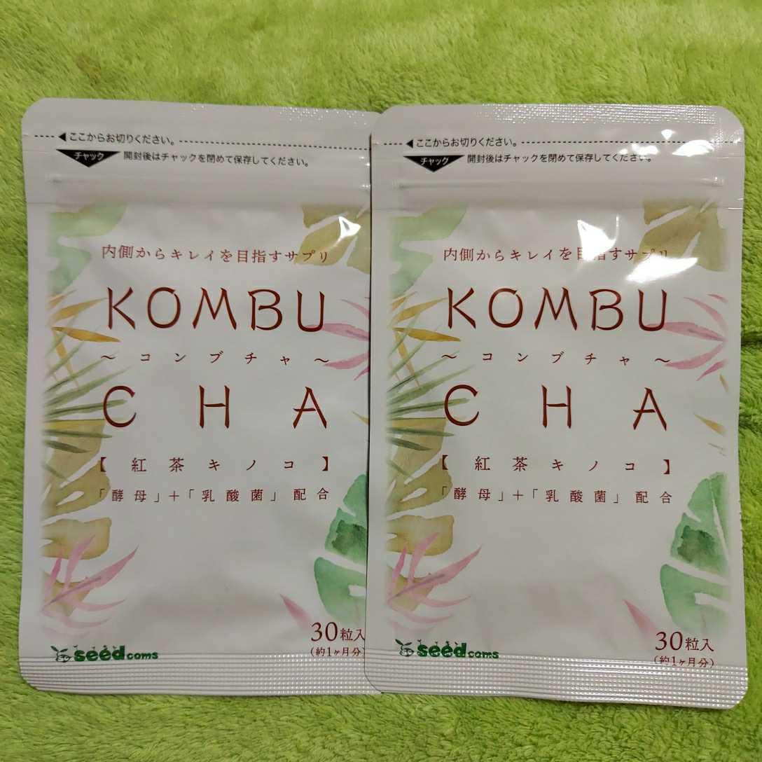 コンブチャ KOMBU CHA 紅茶キノコ☆2ヶ月分(2023.9) シードコムス☆酵母 乳酸菌 オリゴ糖 大豆ペプチド☆サプリメント☆送料140円~_画像1