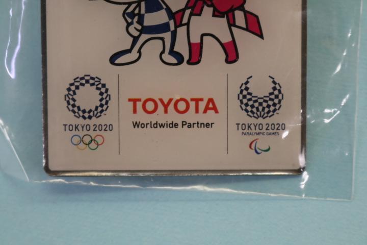 非売品 TOYOTA  東京オリンピック パラリンピック 記念ピンバッジ  即決価格_画像3