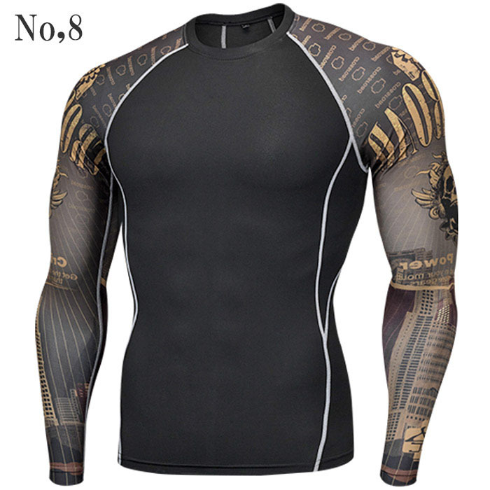 コンプレッションウエア No,8 Mサイズ メンズ 加圧インナー アンダーシャツ トレーニングウエア スポーツウエア 長袖 吸汗 速乾
