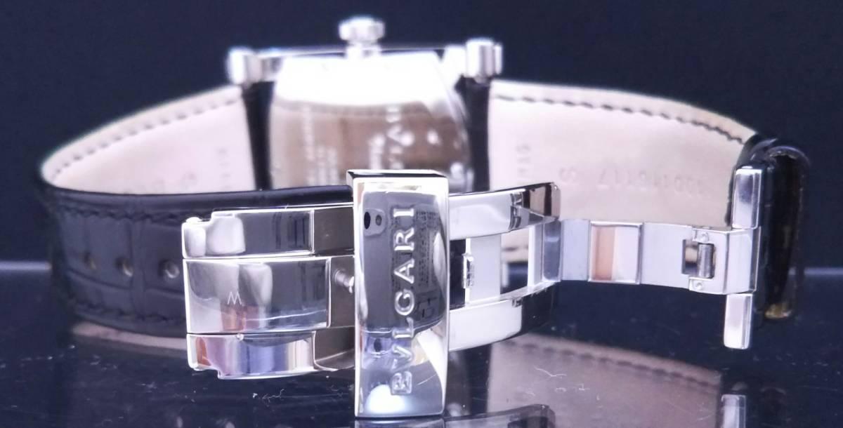 【OH・研磨済!】BVLGARI ブルガリ ASSIOMA アショーマ AA44S メンズ腕時計 デイト SS×黒革 白文字盤 自動巻 店舗受取可_画像5