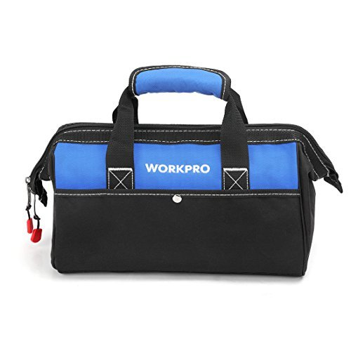 WORKPRO ツールバッグ 工具差し入れ 道具袋 工具バッグ 大口収納 600Dオックスフォード ワイドオープン 幅33cm_画像1