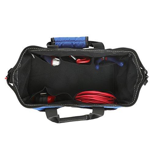 WORKPRO ツールバッグ 工具差し入れ 道具袋 工具バッグ 大口収納 600Dオックスフォード ワイドオープン 幅33cm_画像3
