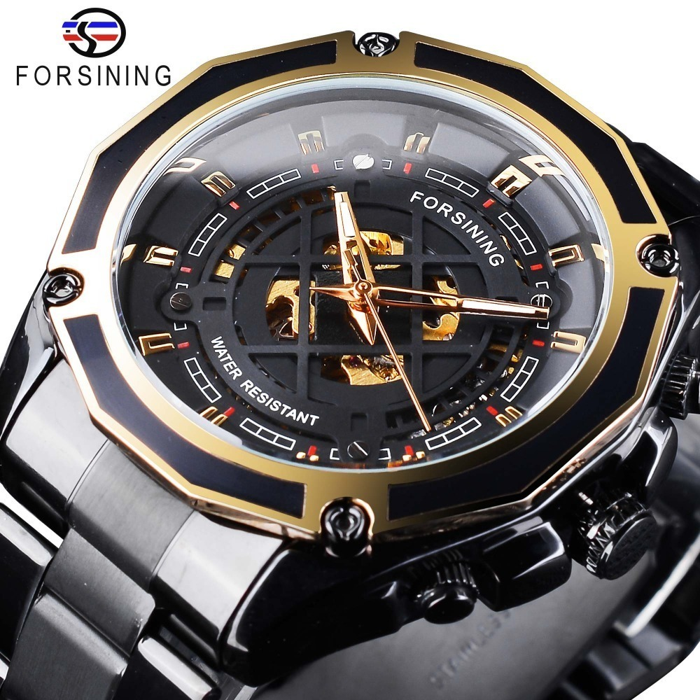 【新品・限定】メンズ腕時計 43mm 機械式 自動巻き 多機能 カレンダー 曜日表示 男性ウォッチ 夜光 防水 ファション ブラック_画像1