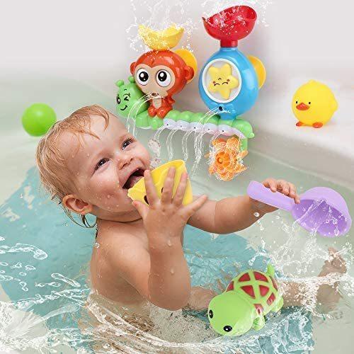 特価! Sotodik カラフル 動物 かわいい 水車おもちゃ 風呂 子供 安定 シャワ 水遊びおもちゃ お風呂おもちゃ 261_画像2