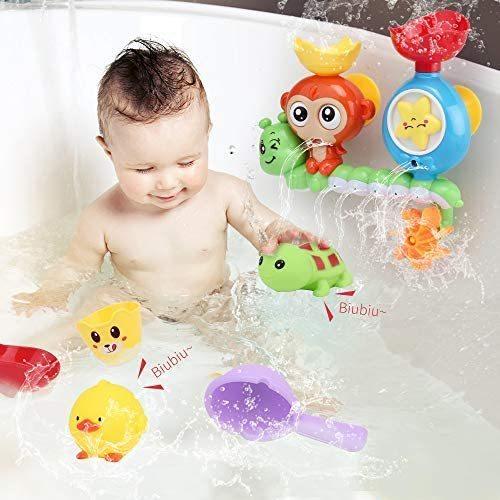 特価! Sotodik カラフル 動物 かわいい 水車おもちゃ 風呂 子供 安定 シャワ 水遊びおもちゃ お風呂おもちゃ 261_画像4