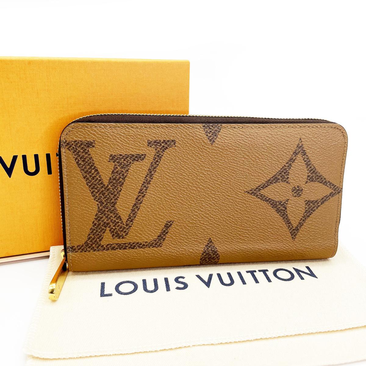 ■ 1円~ ■ ルイ ヴィトン Louis Vuitton ■ ジッピー ウォレット M69353 モノグラム ジャイアント リバース キャンバス 定価 ¥114,400-