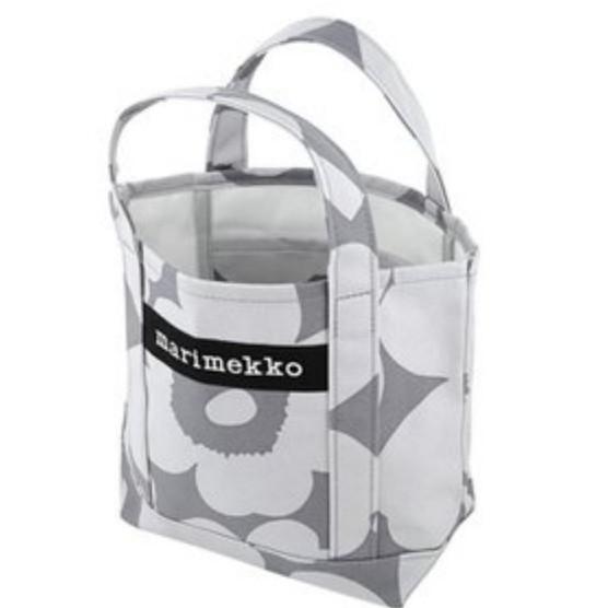 マリメッコ 新品 セイディ ウニッコ トートバッグ グレー