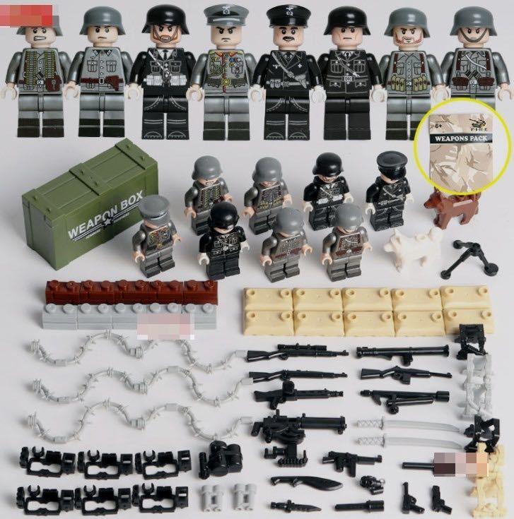 第二次世界大戦 ドイツ 武器つきセット 戦争軍人軍隊マンミニフィグ LEGO 互換 ブロック ミニフィギュア レゴ 互換t11_画像1