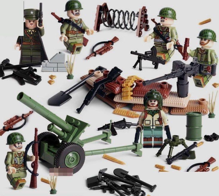 アメリカ軍 武器つきセット 戦争軍人軍隊マンミニフィグ LEGO 互換 ブロック ミニフィギュア レゴ 互換t02_画像1