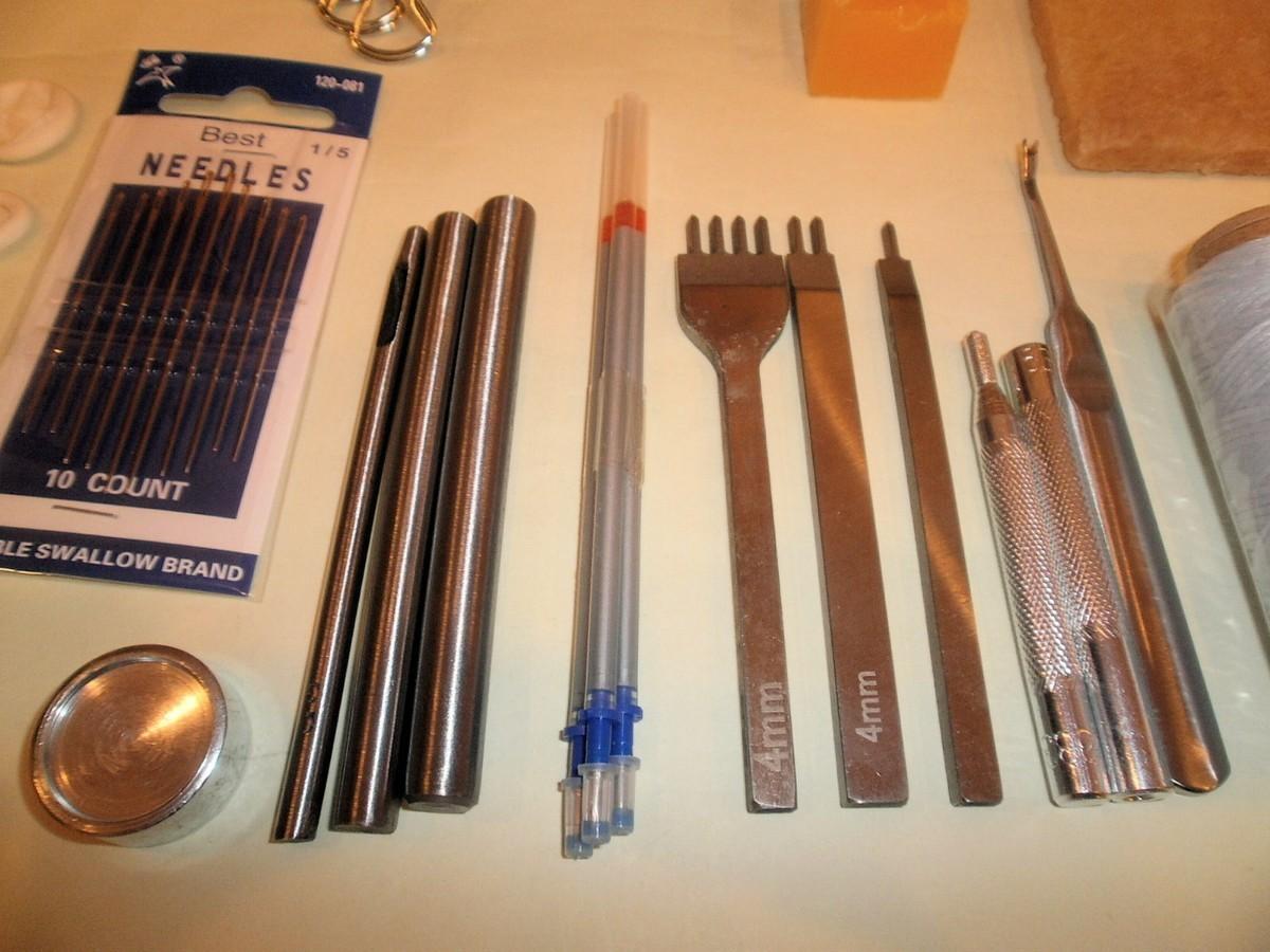 レザークラフト工具★入門 セット ホック打ち 革包丁道具一式
