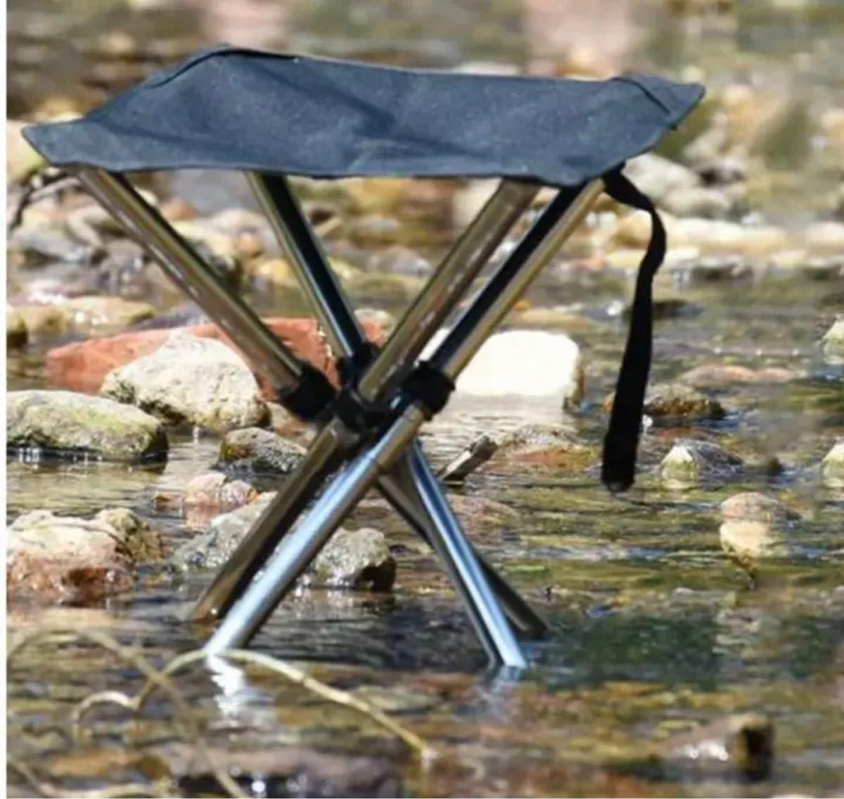 超軽量☆アウトドアチェア 折りたたみ椅子  耐荷重80-100kg収納ケース付き