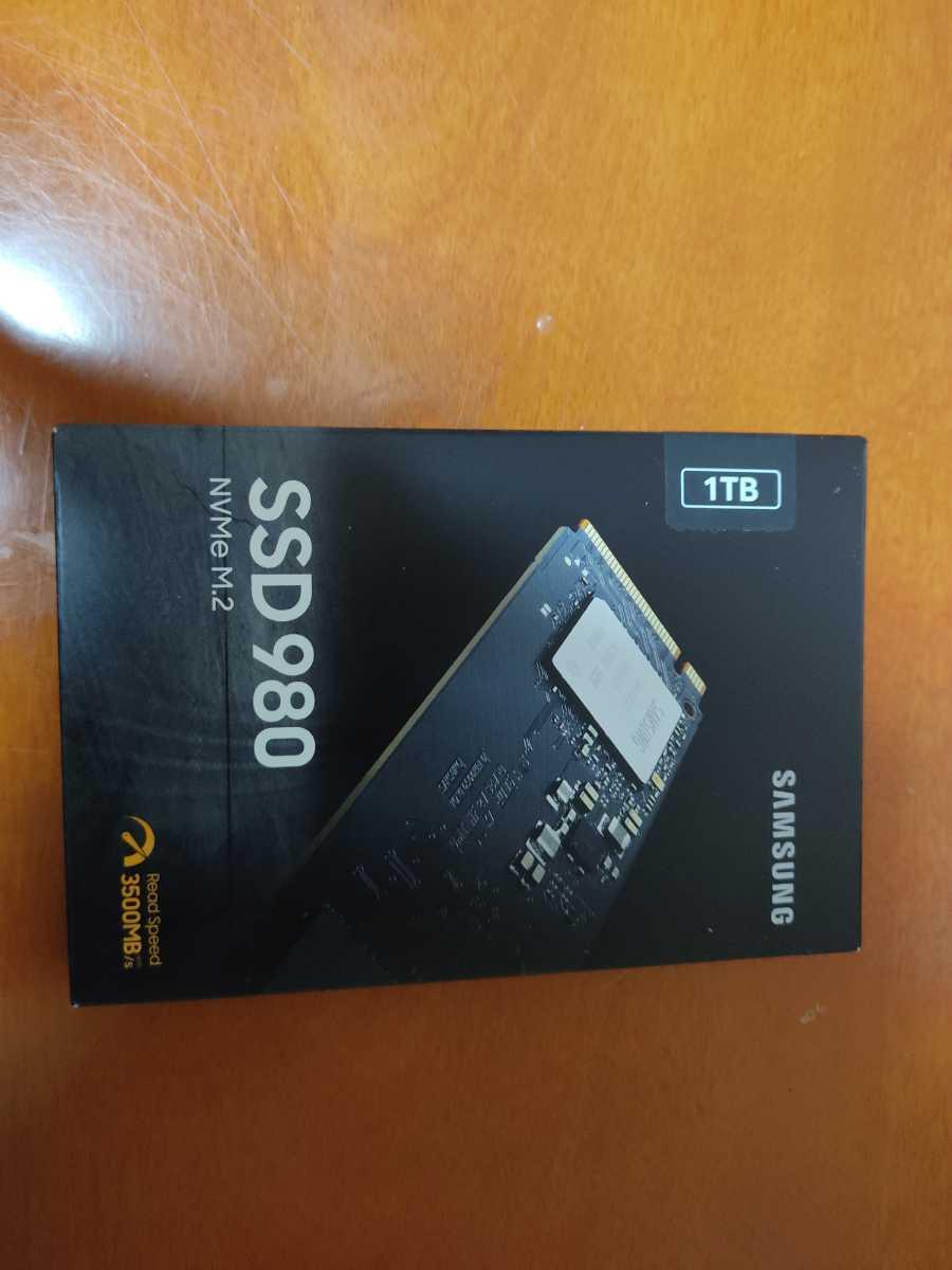 日本サムスン 980 1TB PCIe Gen 3.0 ×4 NVMe M.2 (2280) SSD MZ-V8V1T0B/EC_画像1