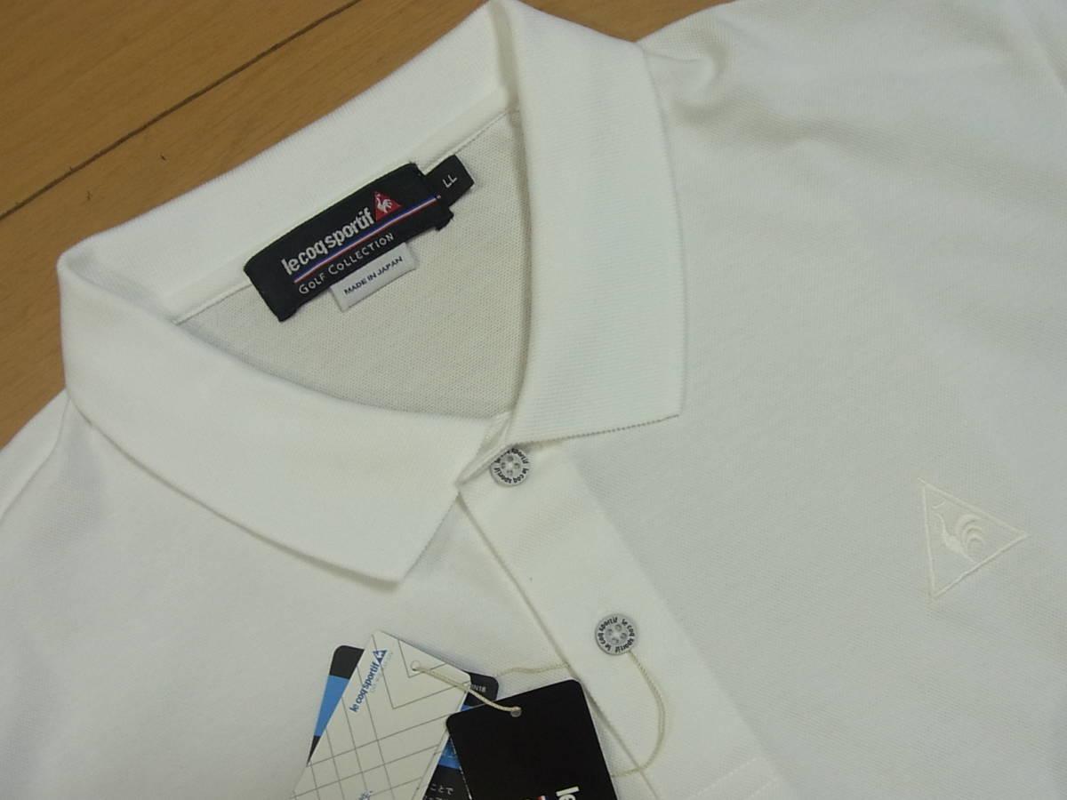 〓★新品ルコックゴルフle coq sportif GOLF吸汗速乾&UV半袖ポロシャツ/LL〓_画像2