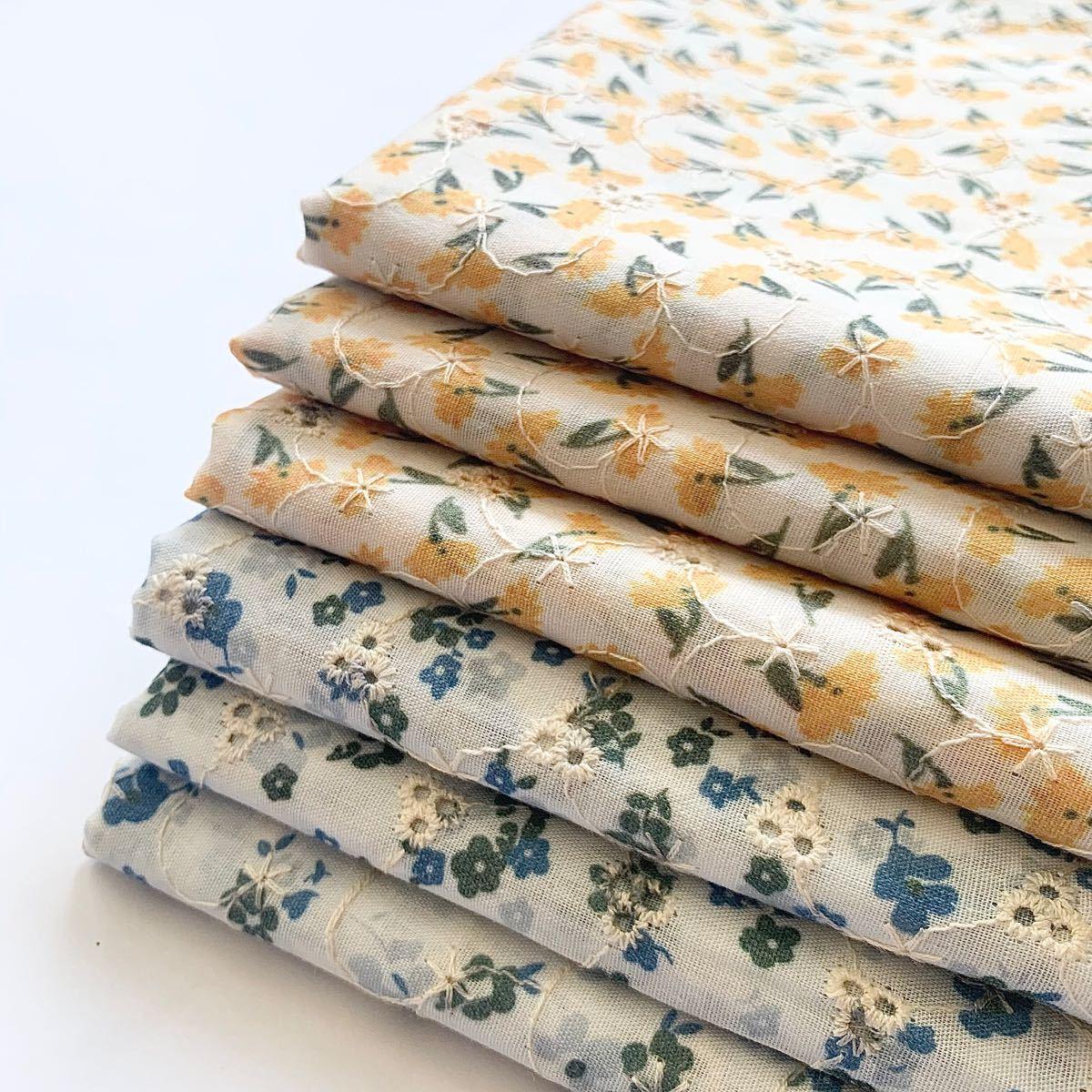 コットン 綿 刺繍生地 はぎれセット 花柄 ハンドメイド 布 ハギレ レース