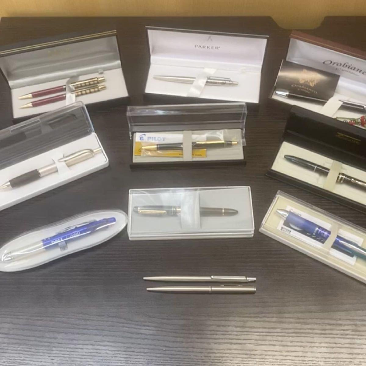 【美品】モンブラン&オロビアンコ&パーカー含むボールペン&シャープペン12品セット