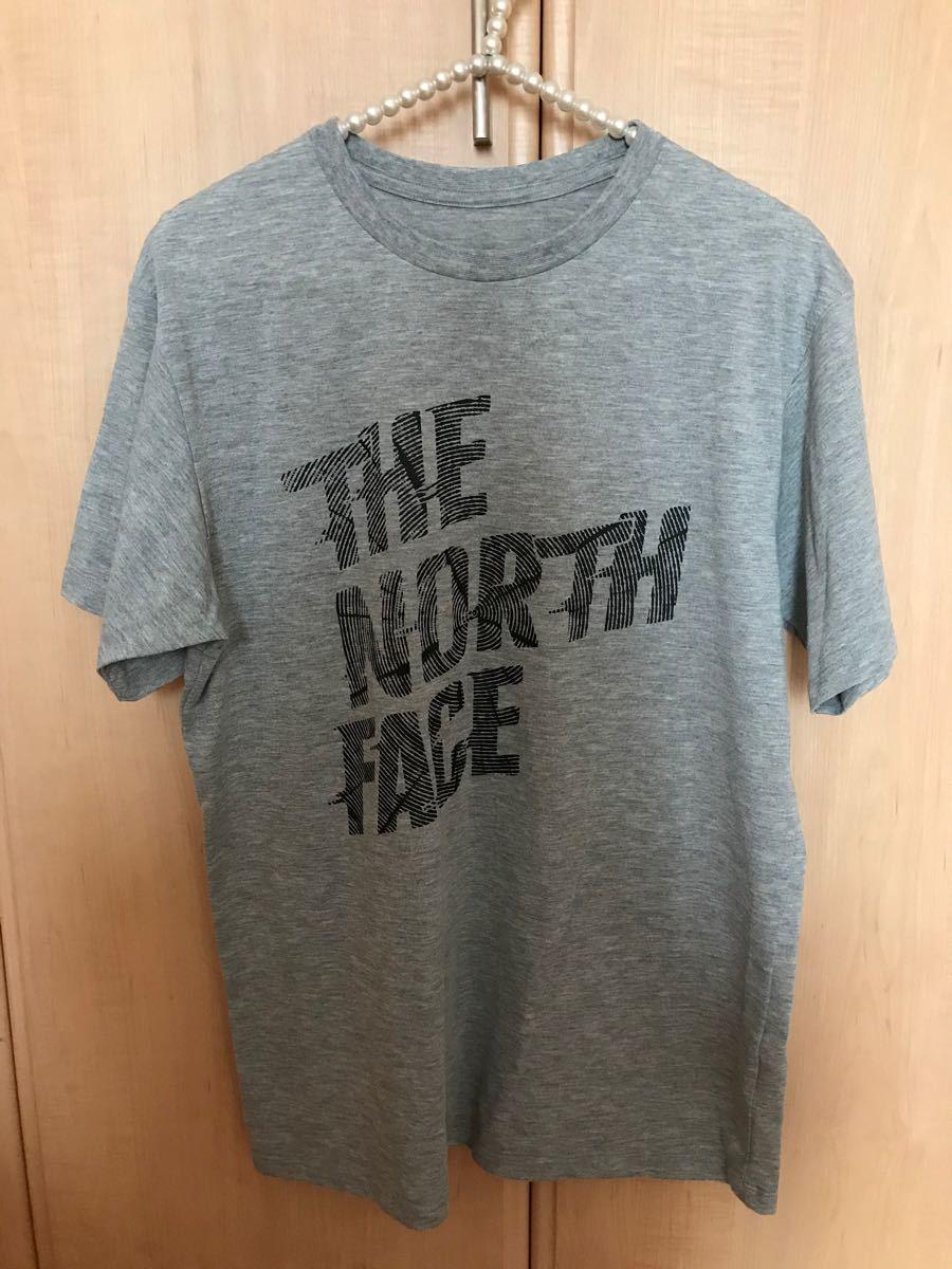 THE NORTH FACE ザノースフェイス 半袖Tシャツ ロゴT Tシャツ ライトグレー Lサイズ