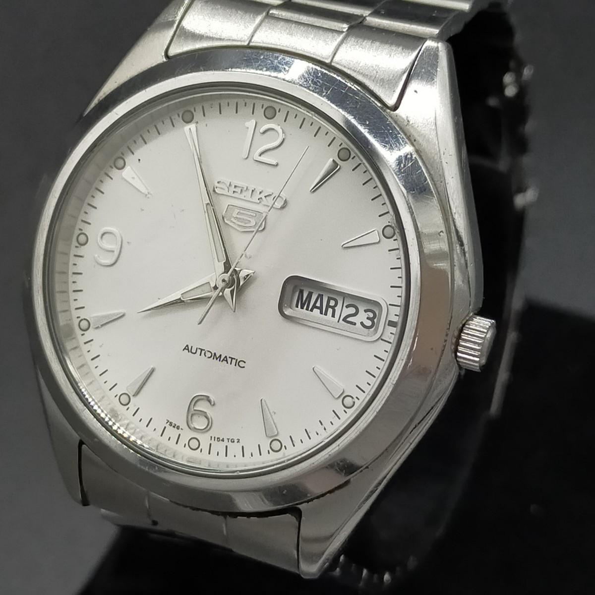 セイコー Seiko 腕時計 セイコー5 機械式(自動巻き) 動作品 ref.7S26-0440 メンズ 1809070
