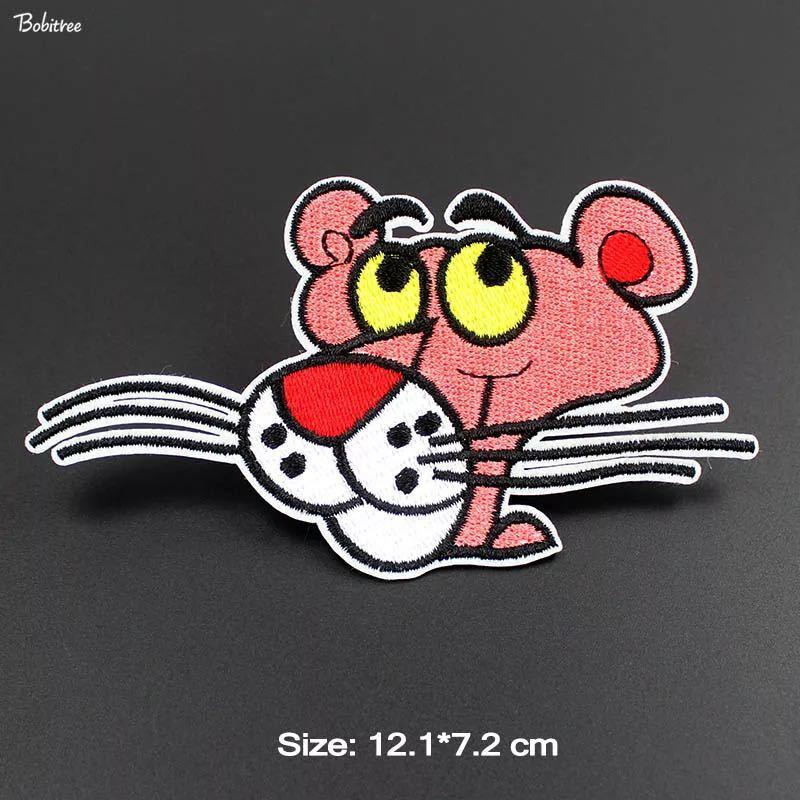 ピンクパンサーワッペン ピンクパンサー アイロンパッチ アイロンワッペン 刺繍ワッペン_画像1