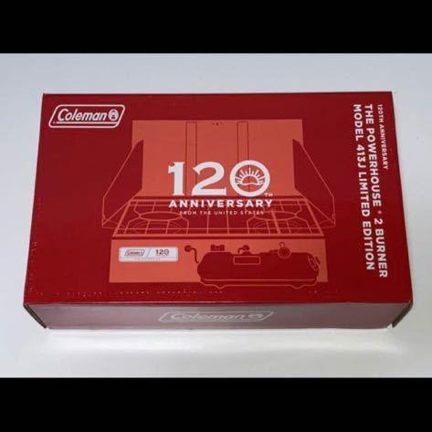 Colemanコールマン120TH ANNIVERSARY THE POWERHOUSE 2 BURNER MODEL 413Jパワーハウス ツーバーナーストーブ新品 120周年 2021 BBQ コンロ