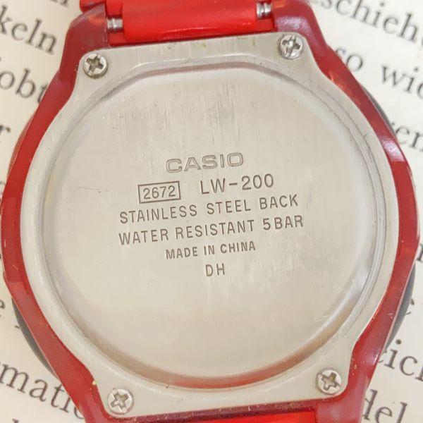 ★CASIO ILLUMINATOR デジアナ 多機能 メンズ 腕時計 ★カシオ イルミネーター LW-200 アラーム クロノ 稼動品 F4329_画像9