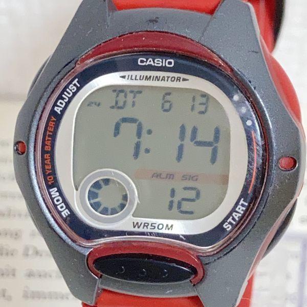 ★CASIO ILLUMINATOR デジアナ 多機能 メンズ 腕時計 ★カシオ イルミネーター LW-200 アラーム クロノ 稼動品 F4329_画像4