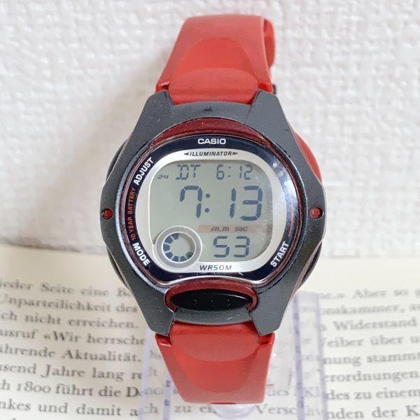★CASIO ILLUMINATOR デジアナ 多機能 メンズ 腕時計 ★カシオ イルミネーター LW-200 アラーム クロノ 稼動品 F4329_画像1