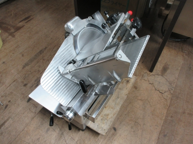 05-42120 中古 南常 冷凍肉スライサー NF-280 業務用 なんつね 食品加工 厨房機器 小型卓上タイプ スライサー _画像1