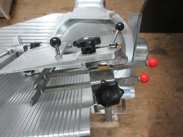 05-42120 中古 南常 冷凍肉スライサー NF-280 業務用 なんつね 食品加工 厨房機器 小型卓上タイプ スライサー _画像2