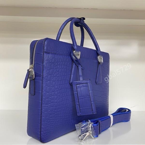最高級 クロコダイル ワニ革本物 本革 レザー 腹革使用 大容量 ブリーフケース ビジネス 手提げ 通勤用 鞄 A4/PC対応 メンズ ハンドバッグ_画像5