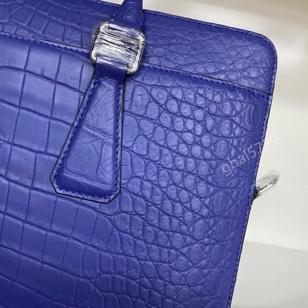 最高級 クロコダイル ワニ革本物 本革 レザー 腹革使用 大容量 ブリーフケース ビジネス 手提げ 通勤用 鞄 A4/PC対応 メンズ ハンドバッグ_画像4